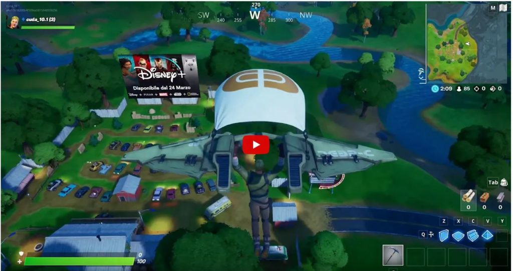 Fortnite In-Game Advertising Example